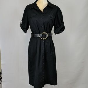 Ann Taylor Cotton Shirt Dress